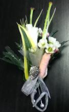 Drop of Silver Boutonniere
