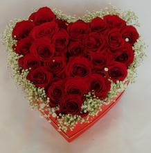 Heart Box - with 24 Roses -Box 6
