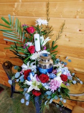 Eternal Flame Urn Wreath