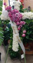 4 Foot Floral Cross