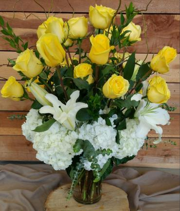 In love with yellow roses
