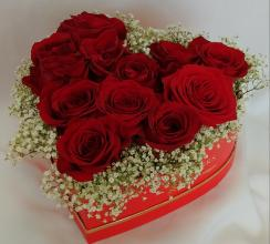 Heart Box -With 12 Roses -Box 2