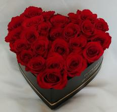 Heart box - with 24 Roses -Box 5